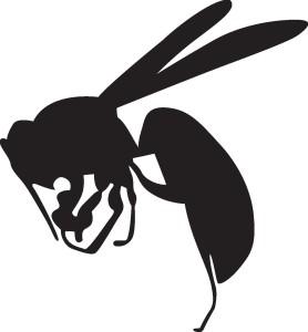 ○スズメバチ シルエット