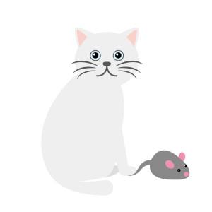 ○ネコとネズミ イラスト